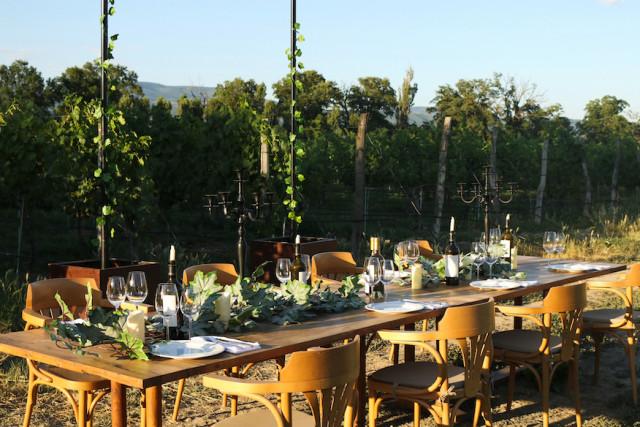 欧州のワイン畑ではガーデンディナーが普及している